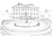The first design for the front of house pool
