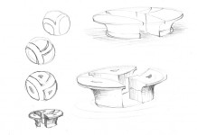 Sketches for the bronze sculpture