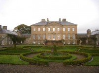 Front of Dumfries House, site for a new pool and fountain