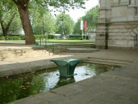 On exhibition at Tate Gallery, London, set lower in the water