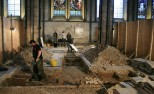An Archaeological dig needed to be performed in the Cathedral before installation could take place.